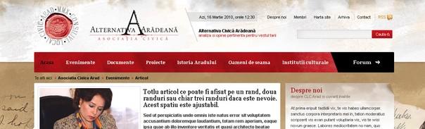 Site pentru o Organizaţie Neguvernamentală dezvoltat pe WordPressCMS