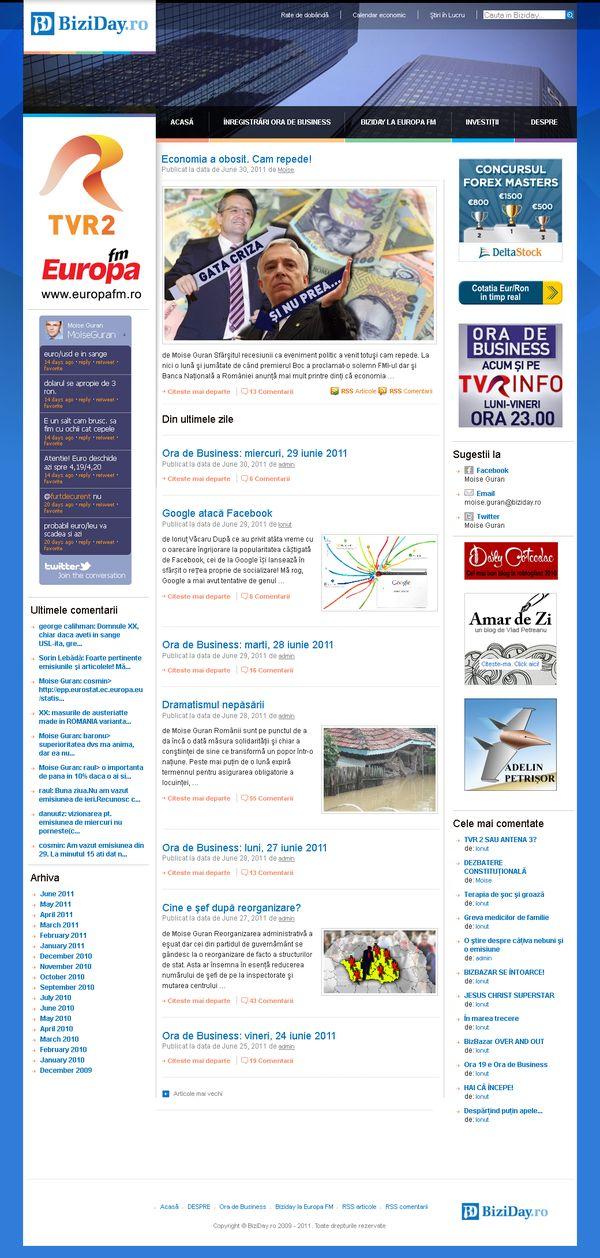 Site mass-media pentru o emisiune TV pe wordpress