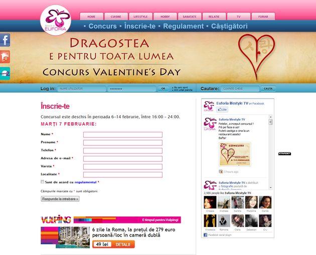 Concurs de Valentine's Day pe Euforia.tv
