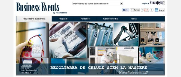 Evenimente economice pe un site de mass-media online