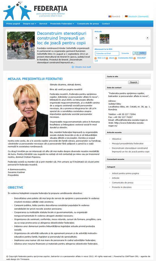 Federația pentru sprijinirea copiilor, bătrânilor și a persoanelor aflate în nevoi