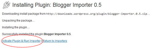 blogger-importer-plugin-activate