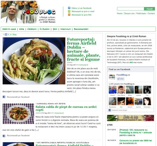 foodblog.ro lifestyle culinar de Cristi Roman