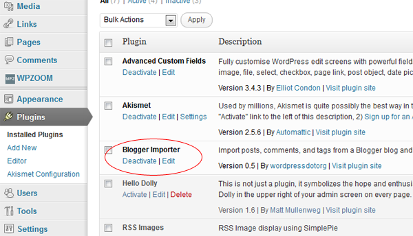 blogger-importer-deactivate